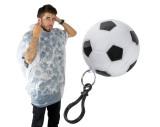 Poncho dans une balle de foot