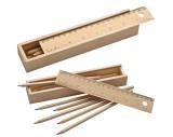 Coffret en bois avec 8 crayons de couleurs
